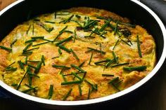 Kalyns Kitchen®: Recipe for Asparagus and Fresh Mozzarella Frittata with Parmesan and Chives  [#SouthBeachDiet friendly from Kalyn's Kitchen]
