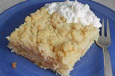 Schneller Apfelmus - Streuselkuchen