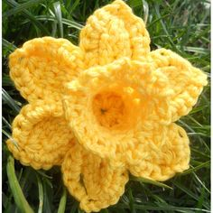 Crochet Flowers Design I have designed this pattern in support for the Marie Curie Appeal. This is a cause that is very close to me and I wanted to find a way to support the charity not just in March - Crochet Puff Flower, Crochet Sunflower, Knitted Flowers, Crochet Flower Patterns, Crochet Designs, Crochet Home, Irish Crochet, Crochet Crafts, Yarn Crafts