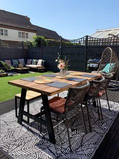 Our Garden Renovation - Katie Ellison Back Garden Design, Backyard Garden Design, Small Backyard Landscaping, Patio Edging, Garden Room Extensions, Backyard Renovations, Garden Spaces, Home And Garden, Garden Living
