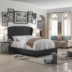 Mulhouse Furniture Felisa Queen Upholstered Platform Bed Upholstery: Charcoal, Size: Full