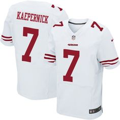$24.99 Nike Elite Colin Kaepernick White Men's Jersey - San Francisco 49ers #7 NFL Road