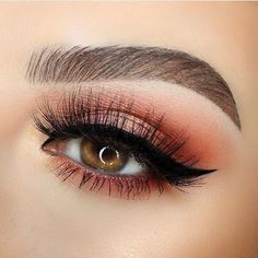 Burgundy eye shadow
