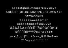 Institutional typeface.