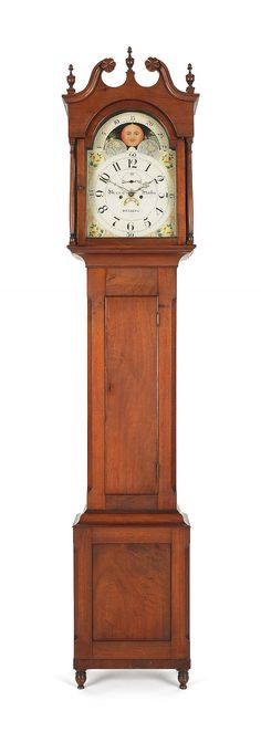 Pook & Pook auction - 19th century Pennsylvania walnut case clock by Henry Hahn
