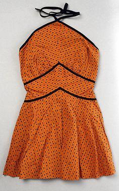 Bathing suit  Designer: Tom Brigance  Date: 1952 Culture: American Medium: cotton, rayon Accession Number: C.I.X.52.7.3