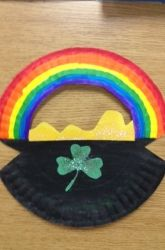 St. Patrick's Day Pot of Gold Paper Plate Craft