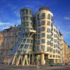 Dancing House, Prague - Czech Republic #travel #europe #prague #czech #republic #building #dancing