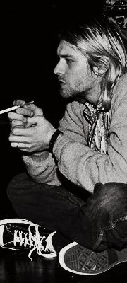Kurt smoking and thinking