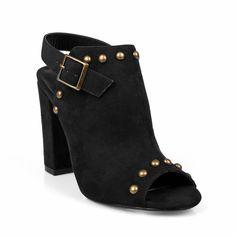 Hotsoles Plover Urban Booties Women's Peep Toe Chunky Heel