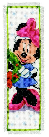 Vervaco bookmarks Mickey and Minnie Cross Stitch For Kids, Just Cross Stitch, Cross Stitch Bookmarks, Cross Stitch Borders, Counted Cross Stitch Patterns, Cross Stitch Charts, Cross Stitching, Plastic Canvas Crafts, Plastic Canvas Patterns