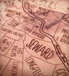 Minneapolis Wood Map | Art Pieces | Neighborwoods | Scoutmob Shoppe | Product Detail