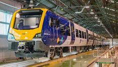 The first class 331 EMU built by Spanish train manufacturer CAF has been showcased at the company's Zaragoza plant. Northern Rail, Manchester Airport, Trans Siberian Railway, New Spain, British Rail, Rolling Stock, New Class, Train Layouts, Model Trains