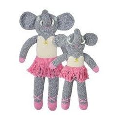 "Knit Josephine the Elephant Doll - 12"""""
