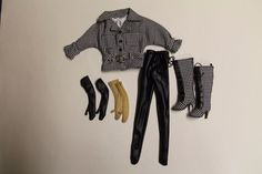 Ellowyne Wilde Checkmate Partial Outfit Jacket, Boots, Gloves