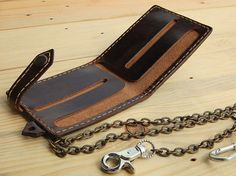 Chain wallet Wallets for menBiker chain wallets by JaklinDifferent