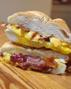 BECause you probably need this @hard_times_sundaes breakfast sandwich if you went out for #Halloween last night 🐷🍳🧀 #IndulgentEats