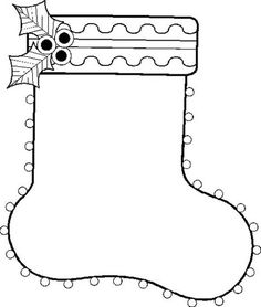 HOLIDAY COLORING PAGES~ Check out these Christmas stocking coloring page along with seven other whimsical designs!