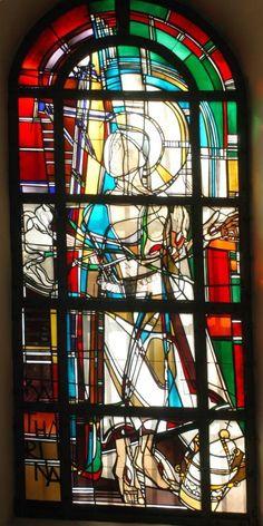 "Georg Meistermann (1911-1990), ""Heilige Katherina"",  Kirche Alt St. Ulrich, Ulrichstraße 110, 50226 Frechen"
