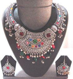 Vintage  Style  ARTISAN Handcrafted  necklace kuchi  BELLY dance tribal  Gypsy. $49.99, via Etsy.