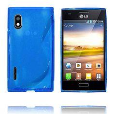 Transparent S-Line (Blå) LG Optimus L5 Deksel