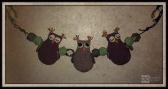 Baby Activity Pram Owl - Barnevognskæde med ugler