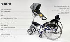 Wheelchair adaptive stroller