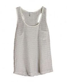 Grey Pocket Knitted Tank Top