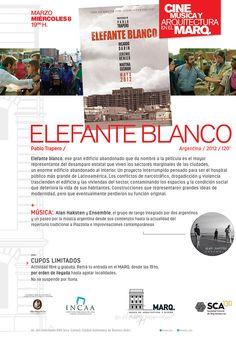 MARQ   CINE, MÚSICA Y ARQUITECTURA 2017: ELEFANTE BLANCO  El Museo de Arquitectura y Diseño de la SCA abre un nuevo ciclo artístico el próximo miércoles 8 de marzo a las 19 horas.  Más info: http://ly.cpau.org/2mc2KeA  #AgendaCPAU #RecomendadoARQ