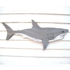 Registe grande tubarão branco Médio Coastal Wall Decor por HavenAmerica