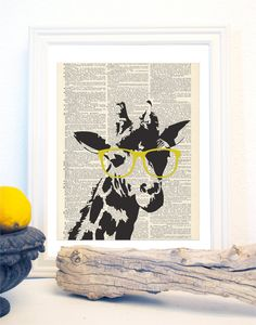 Giraffe and Sunglasses.