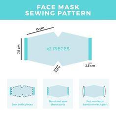 Easy Face Masks, Diy Face Mask, Homemade Face Masks, Mascara 3d, Blue Face Mask, Face Face, Pattern Sketch, Vector Pattern, Crochet Mask