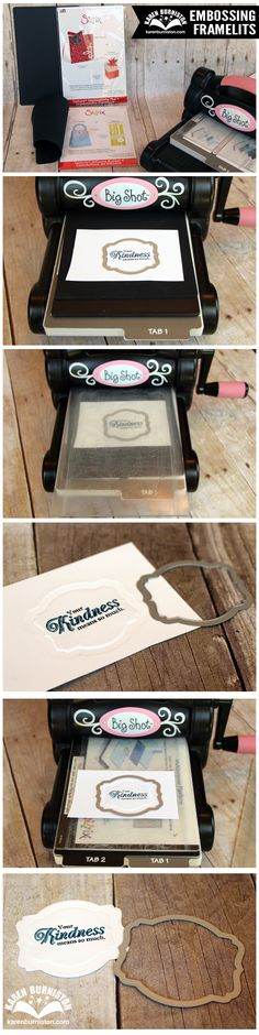 How to create a cool embossed effect with Sizzix Framelits dies.