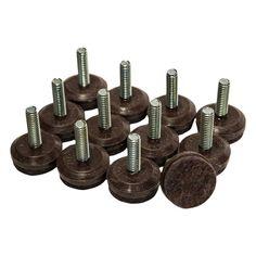 1 4 20 Diameter Felt Levelers Brown 16 Pieces