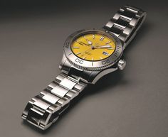 Christopher Ward C60 Trident 316L Limited Edition Yellow Dive Watch