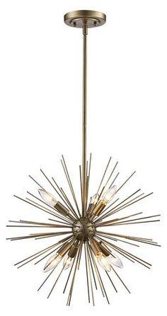 Kitchen Lighting Ideas Worreno Geometric Pendant - You'll love the Antonie Sputnik Chandelier at Joss Chandelier, Candle Style Chandelier, Restoration Hardware Lighting, Candle Styling, Globe Chandelier, Pendant Lighting, Lantern Lights, Chandelier Shades, Globe Lights