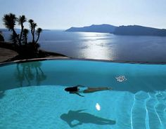 perivolas resort on santorini, greece; ah, Santorini was the best! Amazing Swimming Pools, Cool Pools, Awesome Pools, Dream Vacations, Vacation Spots, Greece Vacation, Greece Travel, Places To Travel, Places To See