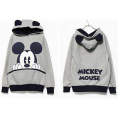 Moletom Feminino Mickey Mouse e Minnie