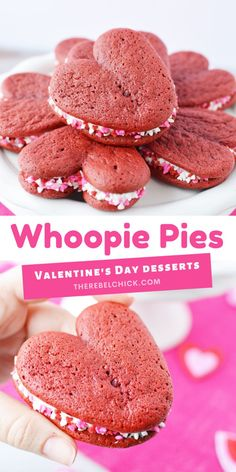 Whoopie Pies Cookies Recipe for Valentine's Day