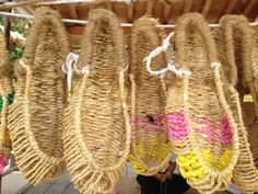 짚신 (Korean Traditional straw shoes)  Namsan Hanok Village,
