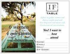 IF:Table interest cards