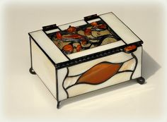 Stained glass jewelry box decorated with Baltic by AmberGlassArt, $65.00