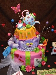 Alice in Wonderland Cheshire Cat Cake
