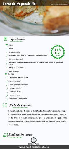 Torta de vegetais fit... ~> http://www.segredodefinicaomuscular.com/torta-de-vegetais-fit-muito-gostoso-e-saudavel #ReceitasSaudaveis