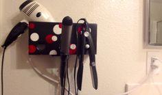 Círculos de color negro con rojo y blanco  baño por MySalonCaddy, $35.00