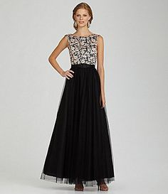 Aidan Mattox Lace Ball Gown #Dillards