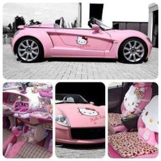 Hello kitty car - oh !  I guess if that was your house, then this would have to be in the driveway! Lol!