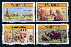 [27011] Tanzania 1997 Tourism East Africa Giraffe Buffalo MNH Sheet