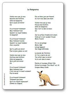 Le kangourou, une chanson d'Henri Dès