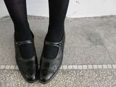 Antique Mary Jane shoes from the 1920s